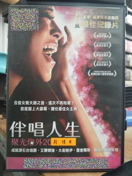 挖寶二手片-T02-168-正版DVD-電影【伴唱人生:聚光燈外二十呎】-奧斯卡金像獎最佳紀錄片(直購價)