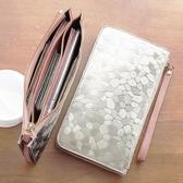 小錢包女長款百搭拉鍊韓版手機包零錢包袋手包錢夾