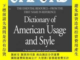 二手書博民逛書店The罕見Oxford Dictionary Of American Usage And StyleY2562