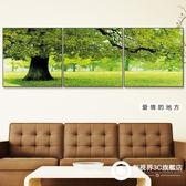壁畫 裝飾畫客廳現代簡約三聯無框畫沙發背景墻掛畫臥室壁畫水晶畫