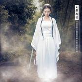 小龍女服裝女漢服神雕俠侶仙女飄逸清新淡雅超仙cos俠女古裝服女