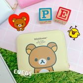 正版 Rilakkuma 拉拉熊 牛奶妹 懶懶熊 方形零錢包 票卡錢包 零錢包 B款 COCOS WZ075