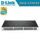 【下單後1~20工作天出貨】D-Link 友訊 DGS-1210-52 48埠 Gigabit 智慧型網管交換器 / 4埠+48埠