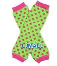 美國 my little legs~ juDanzy 手襪套-荷葉邊/泡泡襪/袖套/保暖襪/長統襪/童襪/嬰兒襪-草莓泡泡蘋果汽水