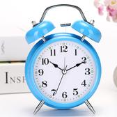 鬧鐘 簡約學生用床頭靜音小鬧鐘兒童專用男女卡通時鐘聲音【免運直出】