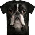 【摩達客】 (預購)美國進口【The Mountain】Classic自然純棉系列 波士頓梗犬臉設計T恤(10412045010a)
