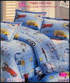 御芙專櫃˙純棉【薄床包】6*6.2尺/加大/100%純棉˙加大『車車上學去』☆*╮