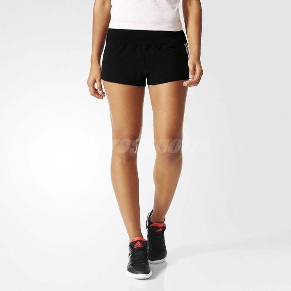 adidas 3-stripes Gym 運動 有內裏 可單穿 短褲 黑白 女款【PUMP306】 AJ4851