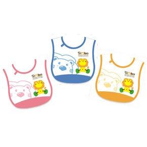 【奇買親子購物網】小獅王辛巴simba側黏圍兜(舉重)/藍/粉紅/黃
