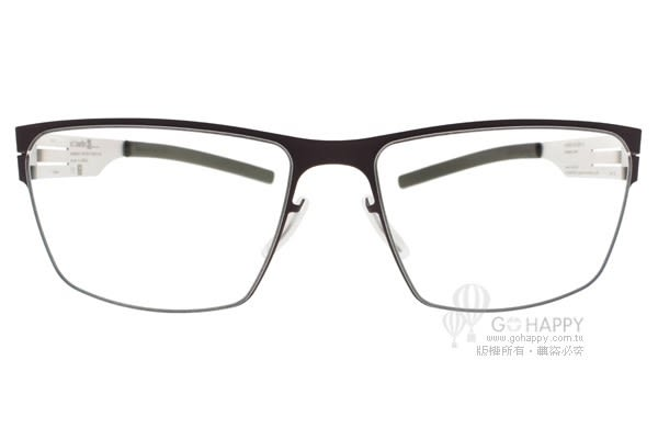 Ic! Berlin 光學眼鏡 TORSTENS BORDEAUX PEARL (深紫-銀) 簡約百搭款 薄鋼眼鏡 # 金橘眼鏡