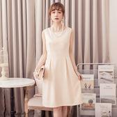 美之札[88112-S]*奢華高雅歐風無袖提花洋裝小禮服~美之札