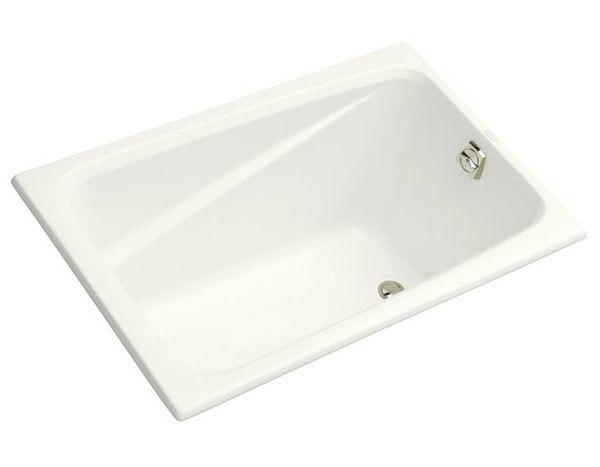 【麗室衛浴】美國 KOHLER Deep Soak 崁入式方形壓克力浴缸 K-1490T-0 1219x813x594mm