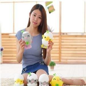 ♥巨安網購♥【HB107041321E2】創意泡沫粒子雞蛋仔君毛絨玩具 (8cm)