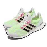 adidas 慢跑鞋 Ultraboost 5.0 DNA 灰 螢光綠 男鞋 愛迪達 Boost【ACS】 G58755