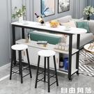 吧台桌 家用小戶型客廳隔斷移動帶櫃 小吧台 高腳餐桌廚房操作台儲物CY 自由角落