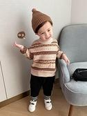 男童復古提花套頭毛衣秋裝秋冬款嬰兒童裝1歲小童韓版針織衫X2200