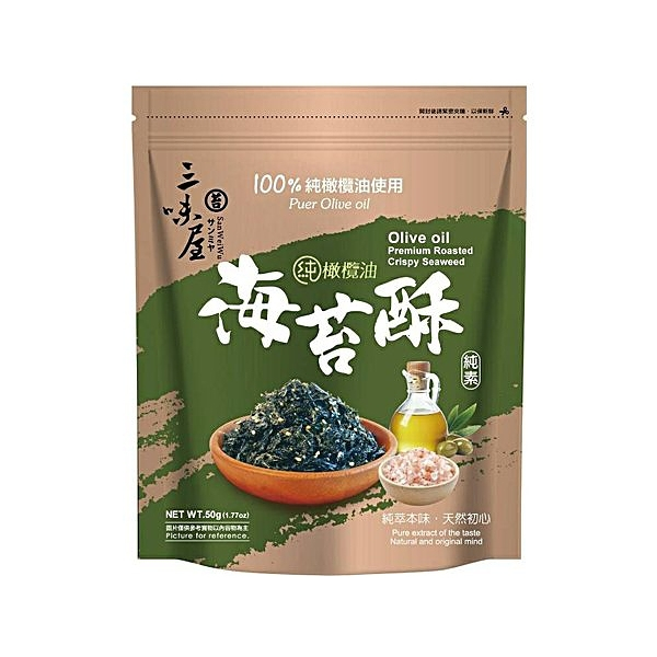三味屋 橄欖油海苔酥(50g)【小三美日】