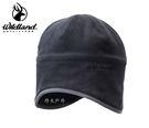 丹大戶外用品 荒野【Wildland】中性Pile保暖遮耳帽 W2001-54 黑色
