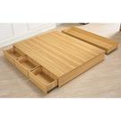 【森可家居】費德勒5尺四抽床底 10ZX129-3 雙人 加高大容量 木紋質感 無印風 MIT台灣製造
