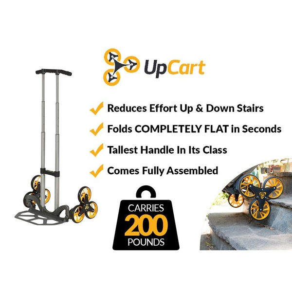 摺疊爬梯推車 (承載90KG) UpCart Lift 200lb Capacity Stair Climbing Folding Hand Truck