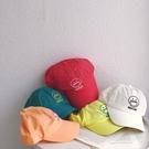 薄款透氣吸汗快乾 笑臉亮色棒球帽 兒童 帽子 遮陽帽 鴨舌帽 速乾 棒球帽 男童 女童 童裝 現貨