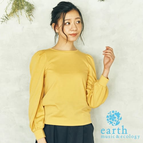 ❖ Must Buy ❖ 抓摺澎澎袖圓領上衣 - earth music&ecology