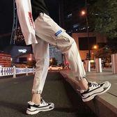 新款夏季網紅同款褲子男九分潮流ins工裝褲男潮牌束腳哈倫褲港風  良品鋪子