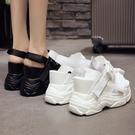 增高涼鞋 厚底鬆糕百搭女夏季新款仙女厚底楔形高跟運動內增高厚底楔形涼鞋-Ballet朵朵