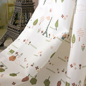 窗簾 韓式田園窗簾成品定制遮光滌綸面料