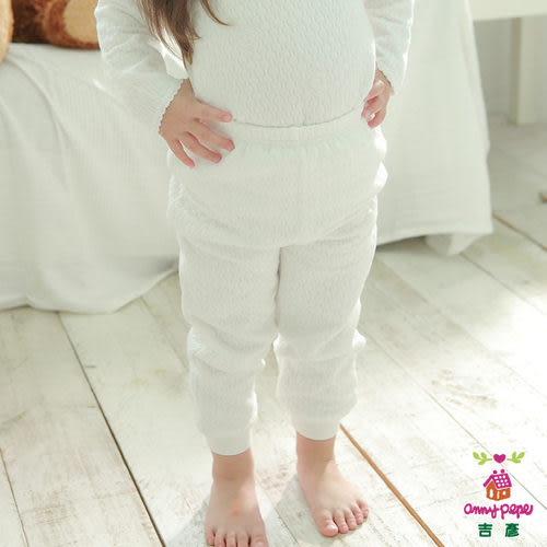 Anny pepe 兒童舒暖棉夾棉長褲 白色 (90~150cm) 男女童均適用