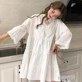 仙女超仙森系洋裝2019新款寬鬆中長款甜美氣質娃娃裙夏季女裙子 韓語空間
