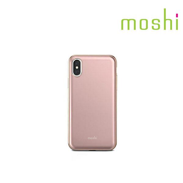 {原廠公司貨}Moshi iPhone X iGlaze 超薄時尚保護背殼(粉紅)