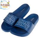 《布布童鞋》STARWAR星際大戰藍色輕量成人拖鞋(23~27公分) [ C9C519B ]
