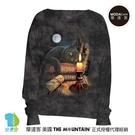 摩達客 預購-美國進口The Mountain 魔法貓時刻 女版船型領休閒長袖T恤