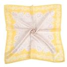 NINA RICCI蕾絲花卉圖騰絹絲綿領帕巾(黃色)989028-H