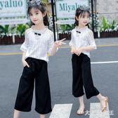 女童套裝新款兒童短袖中大童闊腿褲純棉休閒洋氣兩件套潮 JY246【大尺碼女王】