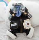 寵物衣服 泰迪狗狗衣服春裝小型犬四腳冬天加厚保暖寵物比熊博美潮牌【快速出貨八折鉅惠】