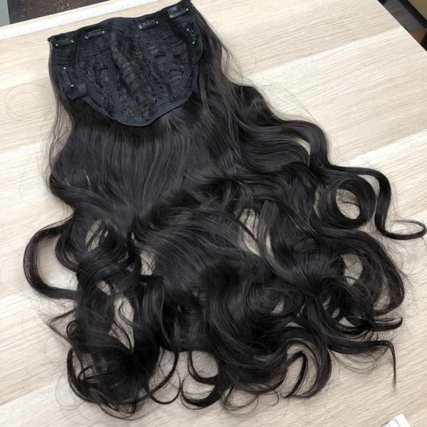 U型假髮 隱形髮片 仿真假髮 半罩假髮 免戴髮網 9008 28吋電棒捲波浪長髮 魔髮樂