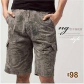【大盤大】A925 男 NG無法退換 XL號 純棉短褲 五分褲 水洗褲 夏 口袋工作褲 圖案 休閒褲 工裝褲