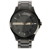 A/X Armani Exchange 時尚黑格紋鋼帶男腕錶46mm(AX2104)271014