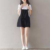 孕婦棉麻背帶褲子新款夏薄款外穿寬鬆大碼懷孕期夏裝潮媽短褲