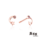 鑽石重量:2顆約0.02克拉 鑽石顏色/淨度:F/VS2 貴金屬材質:玫瑰金/白K金