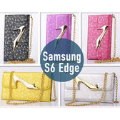 SAMSUNG 三星 S6 Edge 高跟鞋錢包三折皮套 插卡 側翻皮套 手機套 手機殼 套 保護殼 配件