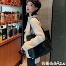 大包女大容量單肩托特通勤黑色電腦包手提簡約上班族包-Ballet朵朵