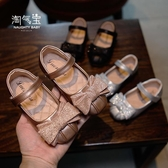 春款兒童鞋子蝴蝶結平底軟底女童皮鞋小女孩公主鞋小皮鞋單鞋 格蘭小舖