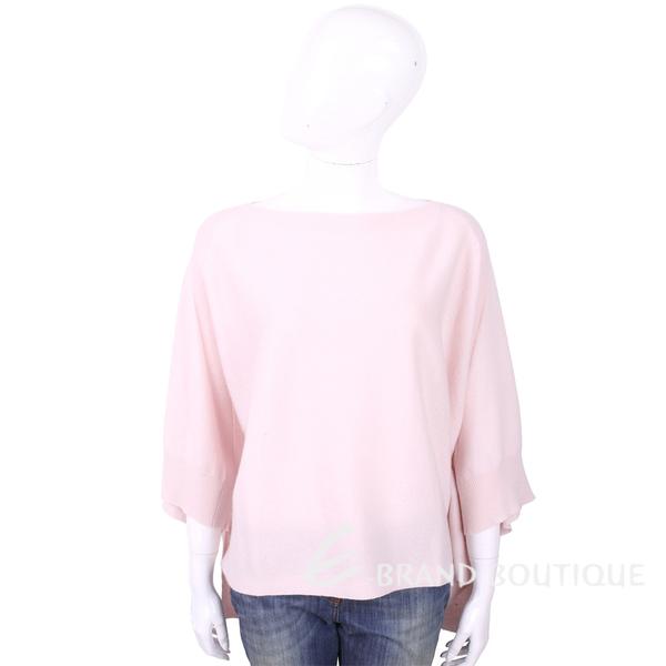 ALLUDE 喀什米爾淺粉色斗篷式針織羊毛衣 1740247-05