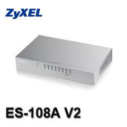 [富廉網] ZyXEL合勤 ES-108A v3 8埠桌上型高速乙太網路交換器