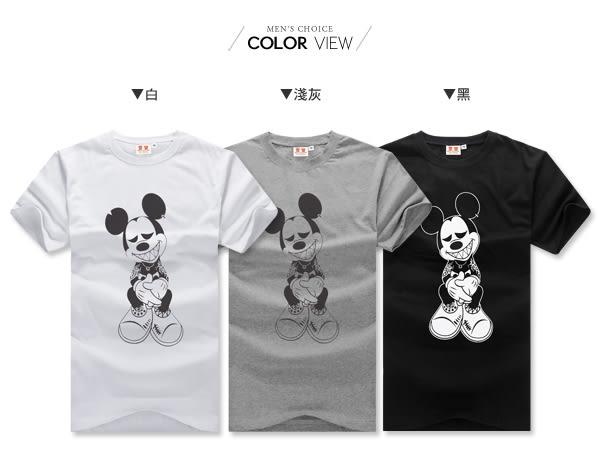 情侶韓版潮流刺青米老鼠短袖T恤【NW629096】