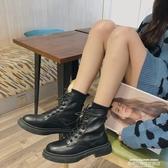 馬丁靴網紅厚底馬丁靴女2020夏新款英倫風ins潮瘦瘦靴復古黑色機車短靴 萊俐亞