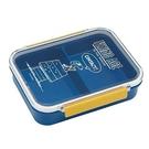 小禮堂 史努比 日製 方形雙扣微波便當盒 塑膠便當盒 保鮮盒 730ml (藍黃 飛行員) 4973307-48592